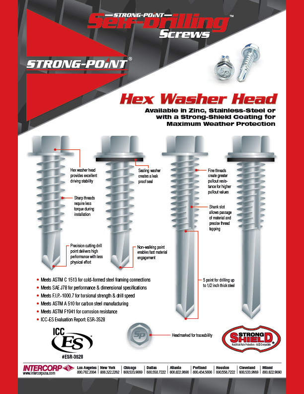 Strong-Point Hex Washer Head