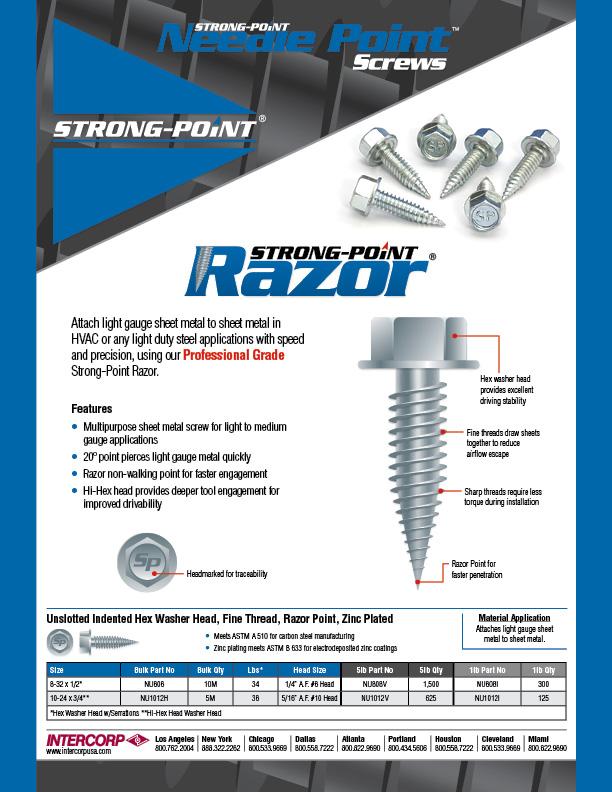 Razor Point Line Card