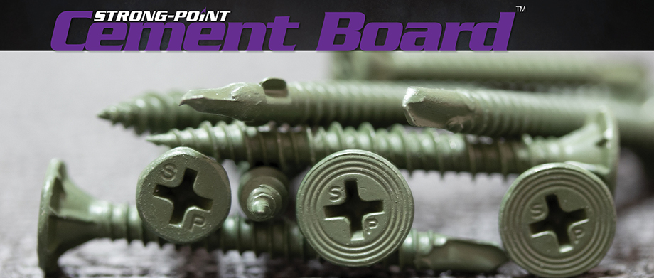 Strong-Point Cement Board Screws