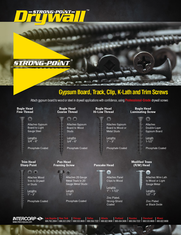 Strong-Point Drywall Screws