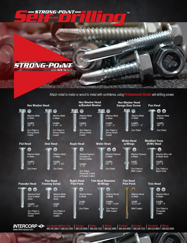 Strong-Point Self-Drilling Screws