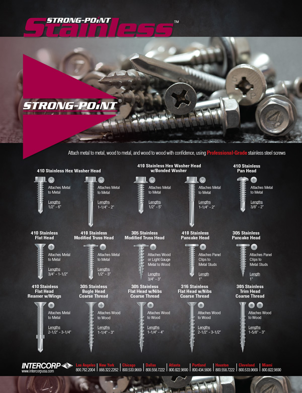 Strong-Point Stainless Steel Screws